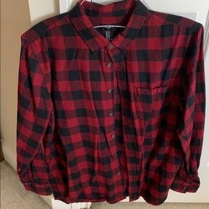 Men's checkered flannel